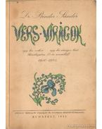 Vers virágok (dedikált) - Dr. Binder Sándor