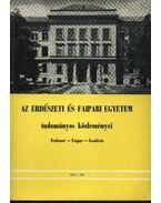 Az Erdészeti és Faipari Egyetem tudományos közleményei 1976. 1. sz. - Dr. Gencsi László