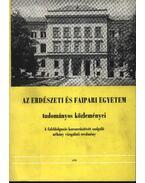 Az Erdészeti és Faipari Egyetem tudományos közleményei 1979. - Dr. Gencsi László