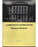 Az Erdészeti és Faipari Egyetem tudományos közleményei 1969. év 2. szám. - Dr. Herpay Imre