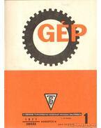 Gép 1977. XXIX. évfolyam 1-12. szám (teljes) - Dr. Lettner Ferenc (főszerk.)