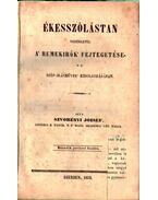 Ékesszólástan - Szvorényi József