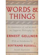 Words and Things - Ernest Gellner