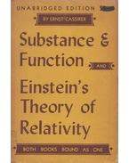 Substance and Function/Einstein's Theory of Relativity - Ernst Cassirer
