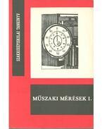Műszaki mérések I. - Fábián Tibor, Tarcai László