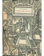 A magyar könyv története 1711-ig - Fitz József