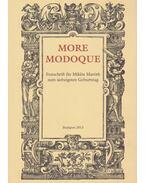 More modoque - Fodor Pál, Mayer Gyula