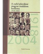 A cseh/szlovákai magyar irodalom lexikona 1918-2004 - Fónod Zoltán