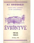 Az orosházi Táncsics Mihály Gimnázium évkönyve 1987-88-89 - Fülöp Géza