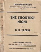 The Shortest Night - G. B. Stern