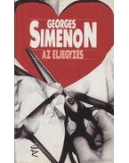 Az eljegyzés - Georges Simenon