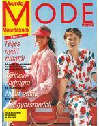 Burda Mode moletteknek nyár '90 - Hajós Katalin