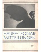 Hauff-Leonar mitteilungen