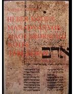Héber kódexmaradványok magyarországi kötéstáblákban - Scheiber Sándor