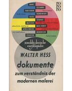 Dokumente zum Verständnis der modernen Malerei - Hess, Walter