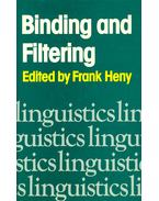 Binding and Filtering - HENY, FRANK