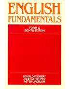 English Fundamentals, Form C - Eighth Edition - EMERY, DONALD W. - KIERZEK, JOHN M. - LINDBLOM, PETER