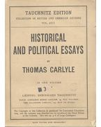 Historical and Political Essays - Carlyle, Thomas