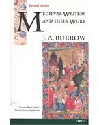 Medieval Writers And Their Work - Middle English Literature 1100-1500 - BURROW, JOHN ANTHONY