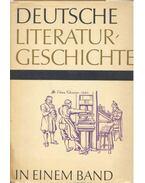 Deutsche Literaturgeschichte in einem Band - Geerdts,Hans Jürgen
