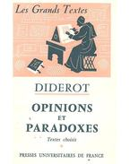 Opinions et Paradoxes - Diderot, Denis