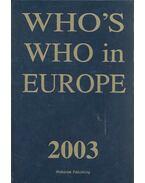 Who's Who in Europe - KERESZTY, ANDRÁS J. (ed.)