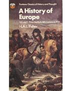 A History of Europe vol 2: From the Early 18th Century to 1935 - FISHER, H.A.L.