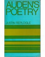 Auden's Poetry - REPLOGLE, JUSTIN