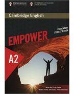 Cambridge English Empower Elementary Student's Book - DOFF, ADRIAN - THAINE, CRAIG - PUCHTA, HERBERT - STRANKS, JEFF - LEWIS-JONES, PETER -