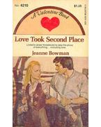 Love Took Second Place - BOWMAN, JEANNE