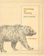 Psychology for Teaching - LEFRANCOIS, GUY R.