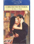 To Woo a Wife - Mortimer, Carole