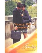 Vacancy: Wife of Conveninece - Jessica Steele
