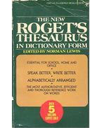 The New Roget's Thesaurus - Lewis, Norman