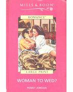 Woman to Wed - Jordan, Penny
