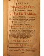 Magyar Concordantzia avagy az Ó és Új Testamentomra mutató tábla I. (A-I) - Kőrösi Mihály