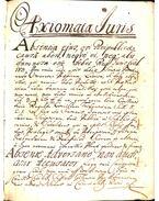 Jogi alapvetés (latin nyelvű kézirat)