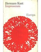 Impresszum - Kant, Hermann