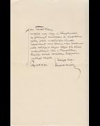 Kárpáti Aurél (1884–1963) író, szerkesztő saját kézzel írt kísérőlevele Babits Mihálynak (1883–1941) költőnek, a Nyugat szerkesztőjének - Kárpáti Aurél