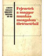 Fejezetek a magyar munkásmozgalom történetéből - Kende János, Borsányi György
