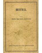 Hitel - Gróf Széchenyi István