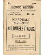 Különféle italok - Kürthy Emilné (szerk.)