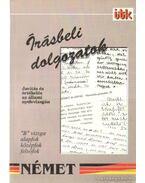 Írásbeli dolgozatok - Német - Gáborján Lászlóné