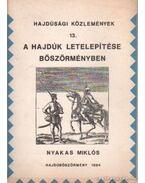 A hajdúk letelepítése Böszörményben - Nyakas Miklós