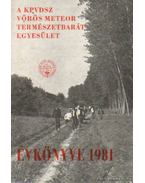 A KPVDSZ Vörös Meteor Természetbarát Egyesület Évkönyve 1981 - Szász Károly