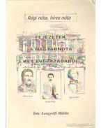 Fejezetek a magyarnóta két évszázadából - Lengyelfi Miklós