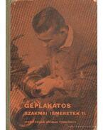 Géplakatos szakmai ismeretek II. - Tóth Péter
