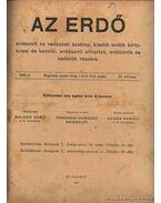 Az erdő 1909. évfolyam (teljes) - Sugár Károly (szerk.)