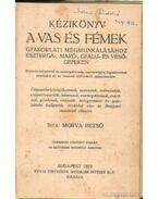 Kézikönyv a vas és fémek gyakorlati megmunkálásához Eszterga-Markó-Gyalu-és vésőgépeken - Morva Rezső