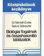 Biológiai fogalmak és összehasonlító táblázatok - Németh Endre, Szécsi Szilveszter